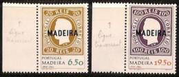 [811163]TB//**/Mnh-Madeire 1980 - N° 67/68, 1ers Timbres Du Portugal, Curiosité: Ligne Horizontale Traversant, SC, Timbr - Briefmarken Auf Briefmarken