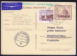 Poland Warszawa 1971 / Lufthansa Inauguracion / Sailing Postal Stationery 1966 - Segeln