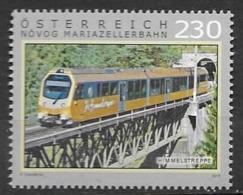 AUSTRIA, 2019, MNH,  TRAINS, BRIDGES,1v - Trains