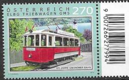 AUSTRIA, 2019, MNH,  TRAMS,1v - Trains