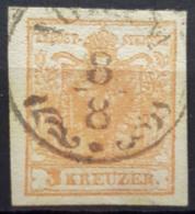 AUSTRIA 1850 - AGRAM Cancel - ANK 3 / Handpapier - 3k - Gebraucht