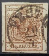 AUSTRIA 1854 - Canceled - ANK 4 / Maschinenpapier - 6k - Gebraucht