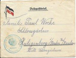 Feldpostbrief Van Deutsche Verwaltung Für Kurland Waldbahn - Guerre 14-18