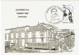 LCTN58/2 - JT GRENOBLE  16/3/1985 - Tag Der Briefmarke