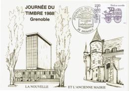 LCTN58/2 - JT GRENOBLE  12/3/1988 - Tag Der Briefmarke
