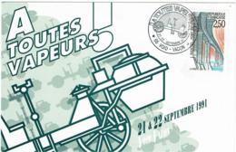 LCTN58/2 - A TOUTES VAPEURS  VOID-VACON 21/22 SEPTEMBRE 1991 - 4 DOCUMENTS - Briefmarkenausstellungen