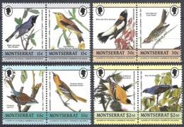 Montserrat, 1985  John James Audubon, Set 8v  # S.G. 657-64 - Michel 597-604 - Scott 580-83 MNH - Montserrat