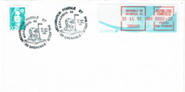 LCTN58/2 - MECAPHIL 91 GRENOBLE - Briefmarkenausstellungen