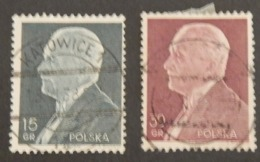POLOGNE YT 397/398 OBLITÉRÉS ANNÉE 1938 - Usati