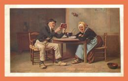 A680 / 147  Couple Lecture Intéressante LUCERNA Chocolats Suisses - Non Classés