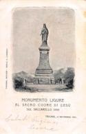 CPA MONUMENTO LIGURE AL SACRO CUORO DI GESU SUL SACCARELLO ( 2200 ) TRIORA, 15 Sept 901 - Imperia