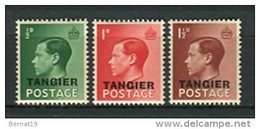Marruecos Oficina Inglesa. Yvert Tanger 11-13 ** MNH - Morocco (1956-...)