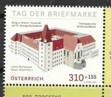 AUSTRIA, 2019, MNH, STAMP DAY, ARCHITECTURE, IMPERIAL RESIDENCE, ST. GEORGE'S CATHEDRAL, 1v - Dag Van De Postzegel