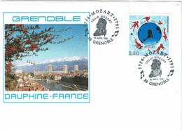 LCTN58/2 - TRAIN MOZART GRENOBLE AVRIL 1991 - Briefmarkenausstellungen