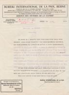 Août 1918 / Bureau De La Paix Berne Suisse / Informe L'épouse Du Capitaine Mermet / Prisonnier Camp Ströhen - 1914-18