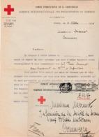Octobre 18 / Lettre + Env Comité Croix-Rouge Prisonniers Guerre Genève /Recherches Disparu Sous-Lieutenant Pierre Mermet - 1914-18