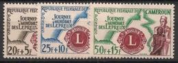 Cameroun - 1962 - N°Yv. 335 à 337 - Journée Des Lépreux - Neuf Luxe ** / MNH / Postfrisch - Rotary, Club Leones