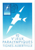 LCTN58/2 - PARCOURS DE LA FLAMME OLYMPIQUE MARS 1992 - Briefmarkenausstellungen