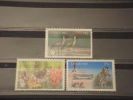 LESOTHO - 1991 TURISMO/FAUNA 3 VALORI -  NUOVI(++) - Lesotho (1966-...)