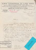 Décembre 18 / Sce Victimes Guerre Berne Suisse / Mort Du Lieutenant Pierre Mermet Au Champ D'Honneur à Locre - 1914-18