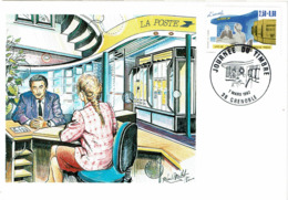 LCTN58/2 - JT  GRENOBLE 7/3/1992 - Tag Der Briefmarke