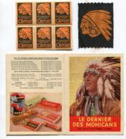 Lot Chocolat CEMOI Indien Timbres Badge Livret - Etichette Di Fantasia