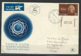 MZ-/-056-  BELLE LETTRE  (FDC) , De 1956 , ALBERT EINSTEIN - AVEC TABS - VOIR LES SCANS  , Liquidation - FDC