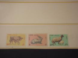 LIBANO - 1965 ANIMALI 3 VALORI -  NUOVI(++) - Libano