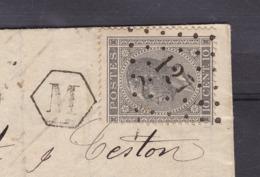 N° 17 / Lettre De FLERON De La Boite Hexagonale M Vers Verviers 1 Juil 1869 ( Lac ) - 1865-1866 Profile Left