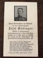 Sterbebild Wk1 Ww1 Bidprentje Avis Décès Deathcard RIR2 ARRAS 9. Mai 1915 Aus Galgenberg - 1914-18