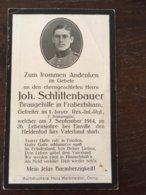 Sterbebild Wk1 Ww1 Bidprentje Avis Décès Deathcard RIR1 EINVILLE BOIS DE CREVIC Gerbéviller September 1914 Frabertsham - 1914-18