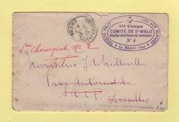 Hopital Auxiliaire Du Territoire N°4 - Comite De St Malo - Ille Et Vilaine - Parame - 1915 - Guerra De 1914-18