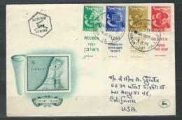 MZ-/-066-   BELLE LETTRE  F.D.C.  De 1955, 4  TIMBRES Avec TABS - VOIR LES SCANS  , Liquidation - FDC