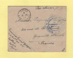 Hopital De Convalescence De Collo - Constantine Algerie - 1915 - FM Par Avion - Guerra De 1914-18