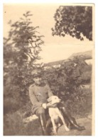 """MILITAIRE ITALIEN ET SON CHIEN   """"BORGO PANIGALE SEPTEMBRE 1920"""" - War, Military"""