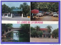 Carte Postale 06. Antibes Camping Logis De La Brague   404 Peugeot  DS Citroën  Trés Beau Plan - Antibes