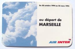 Dépliant Publicitaire Ligne Avions Air Inter Itinéris Téléphone Nokia 2110 1994 - Reclame