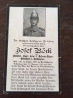 Sterbebild Wk1 Ww1 Bidprentje Avis Décès Deathcard 1. Reserve Jäger Batl. BEAURAINS St. Laurent Blangy 1916 Dorschhausen - 1914-18