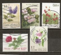 Finlande Finland 200- Fleurs Flowers Obl - Finland