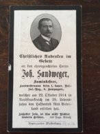 Sterbebild Wk1 Ww1 Bidprentje Avis Décès Deathcard RIR1 ARRAS St. Laurent Blangy Oktober 1914 - 1914-18