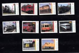 Trein, Train, Locomotive, Eisenbahn Grenada Carriacou  : 10 Treinen, Uit Zwitserland, Zweden, USA, Hongarije, Duitsland, - Treni