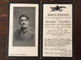Sterbebild Wk1 Ww1 Bidprentje Avis Décès Deathcard RIR13 MYLSK Russland 21. Juni 1916 Aus Hörzhausen - 1914-18