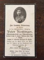Sterbebild Wk1 Ww1 Bidprentje Avis Décès Deathcard RIR2 13. April 1918 Aus Thürnthenning - 1914-18