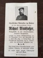 Sterbebild Wk1 Ww1 Bidprentje Avis Décès Deathcard FAR1 BERWEILER BREITENBACH Block 1 Grab 220 Aus Burghausen - 1914-18