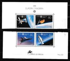 1991 Azzorre Madeira, Azores Madera EUROPA CEPT EUROPE 2 Serie Di 2v. MNH** SPAZIO SPACE - Europa-CEPT