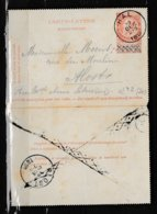 Kaartbrief Van Hal Naar Alost Met Annulatie Stempel - 1893-1900 Fine Barbe