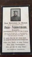 Sterbebild Wk1 Ww1 Bidprentje Avis Décès Deathcard RIR15 Juni 1915 Aus Ziemetshausen - 1914-18