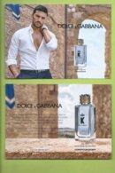 DOLCE & GABBANA * K * CARD * 105 X 15 Cm * V/R * DUTY FREE * - Cartes Parfumées