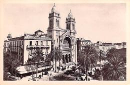 Afrique -TUNISIE TUNIS La Cathédrale ( Mercerie Princière Quincailerie)(Edition CAP C-A-P  N°13)*PRIX FIXE - Tunisia
