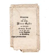 Andachtsbild Von 1872, Bergkirche Zu Binabiburg, Madonna Della Legenda, Verlag G.J. Manz Regensburg, Beschädigt - Andachtsbilder